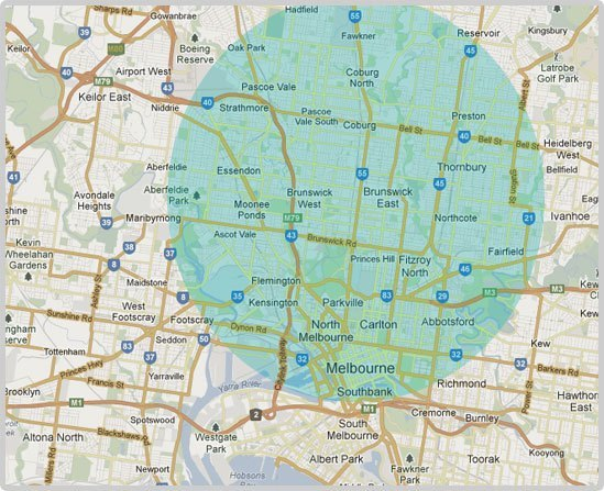 Melbourne Locksmith Service Area